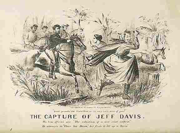 2375: Lithograph (1865) The Capture of Jeff Davis