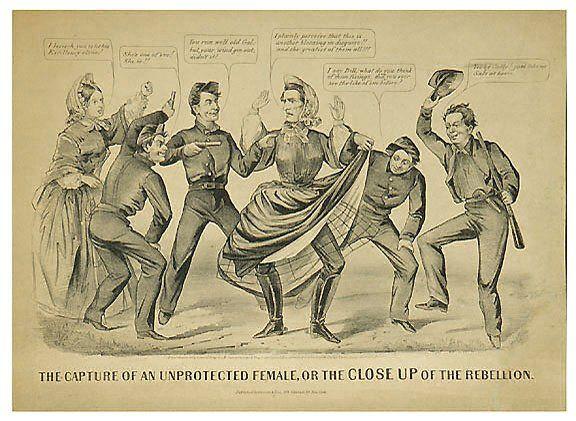 2379: Civil War Lithograph Jefferson Davis, Cameron