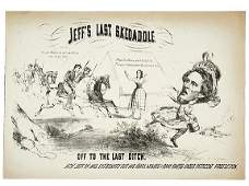 2382 Civil War CaricatureCapture of Jeff Davis