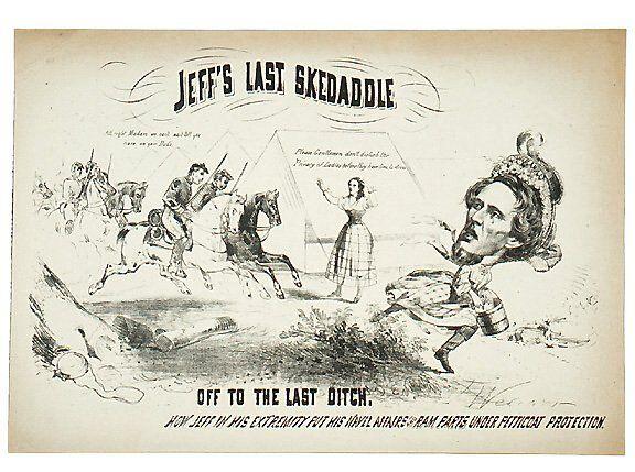 2382: Civil War Caricature-Capture of Jeff Davis