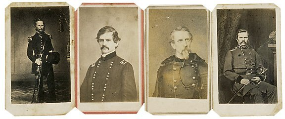 2424: Civil War CDV of 4 Union Generals