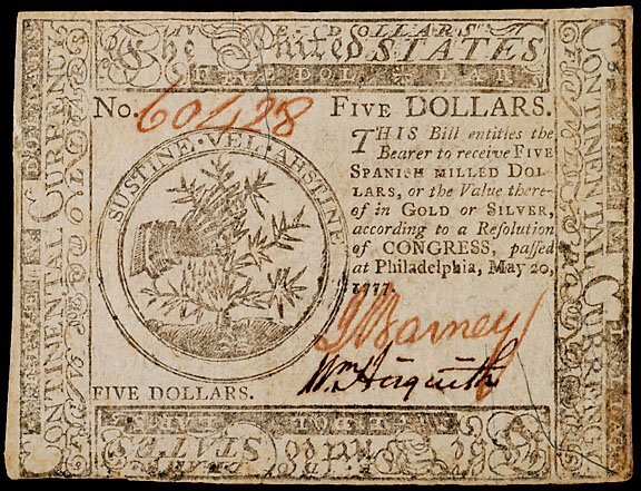 2694: Continental Currency, May 20, 1777, $5