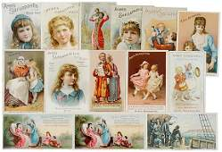 2781: AYERS Lot of 14 Advertising Trade Cards