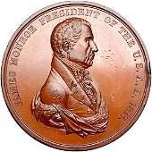 2793: 1817 Monroe Indian Peace Medal