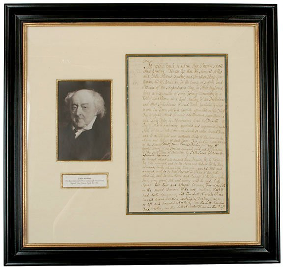 2: JOHN ADAMS Four Times Signed Document