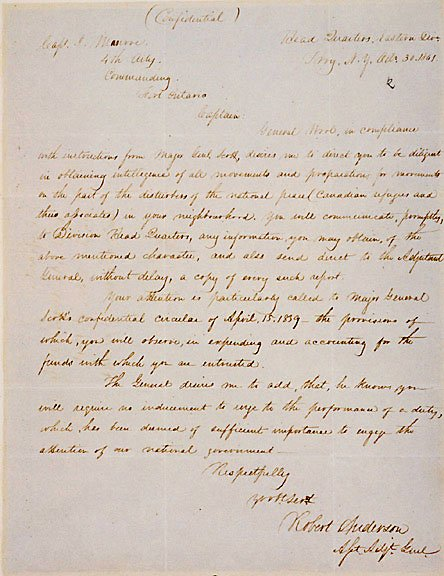 4: Robert Anderson Signed Letter 1841