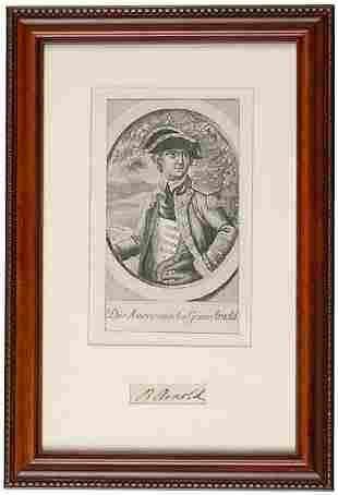 c.1780 Benedict Arnold Signature and Portrait