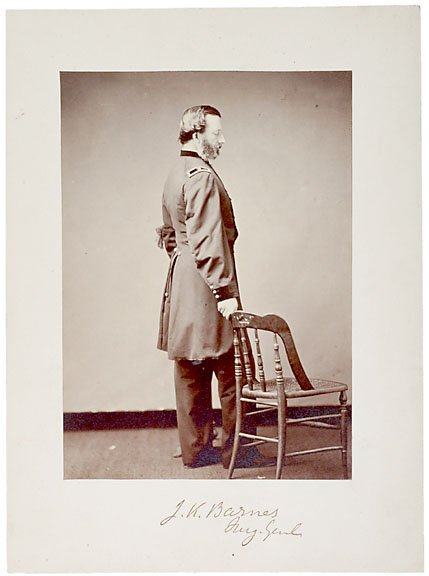 9: Surgeon Gen. Joseph Barnes SIgned Photograph