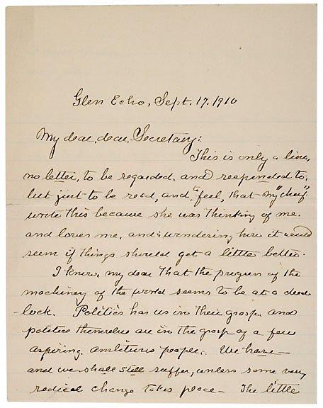 10: Clara Barton Signed Letter, 1910