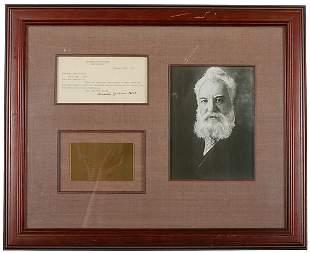 Alexander Graham Bell Signed Letter, 1899