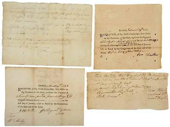 23: Submarine Inventors Signed Documents, 1780s