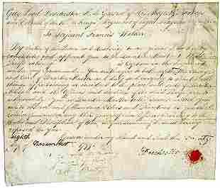 Sir Guy Carleton Signed Document - 1799