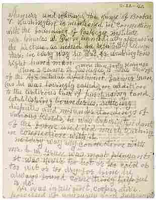 George Washington Carver Signed Manuscript