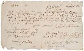 32: George Clark Signature, 1713