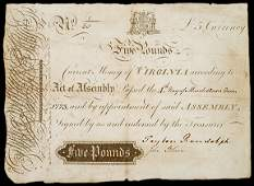 446 Blair and Randolph Signed Colonial Currency