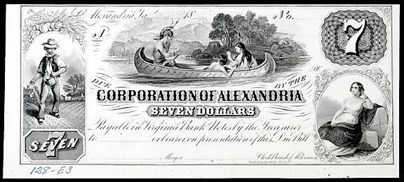 945: Obsolete Currency Alexandria, VA, $6