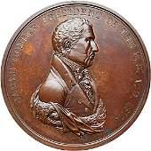 1057: 1817 Monroe Indian Peace Medal, Bronze