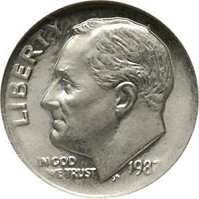 1233: Error Coin 1982 Roosevelt Dime, No Mint mark