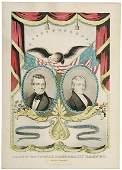 1297: c.1845 Print, Grand National Deocratic Banner