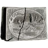 HandEngraved Wood Block Printing Plate Lion