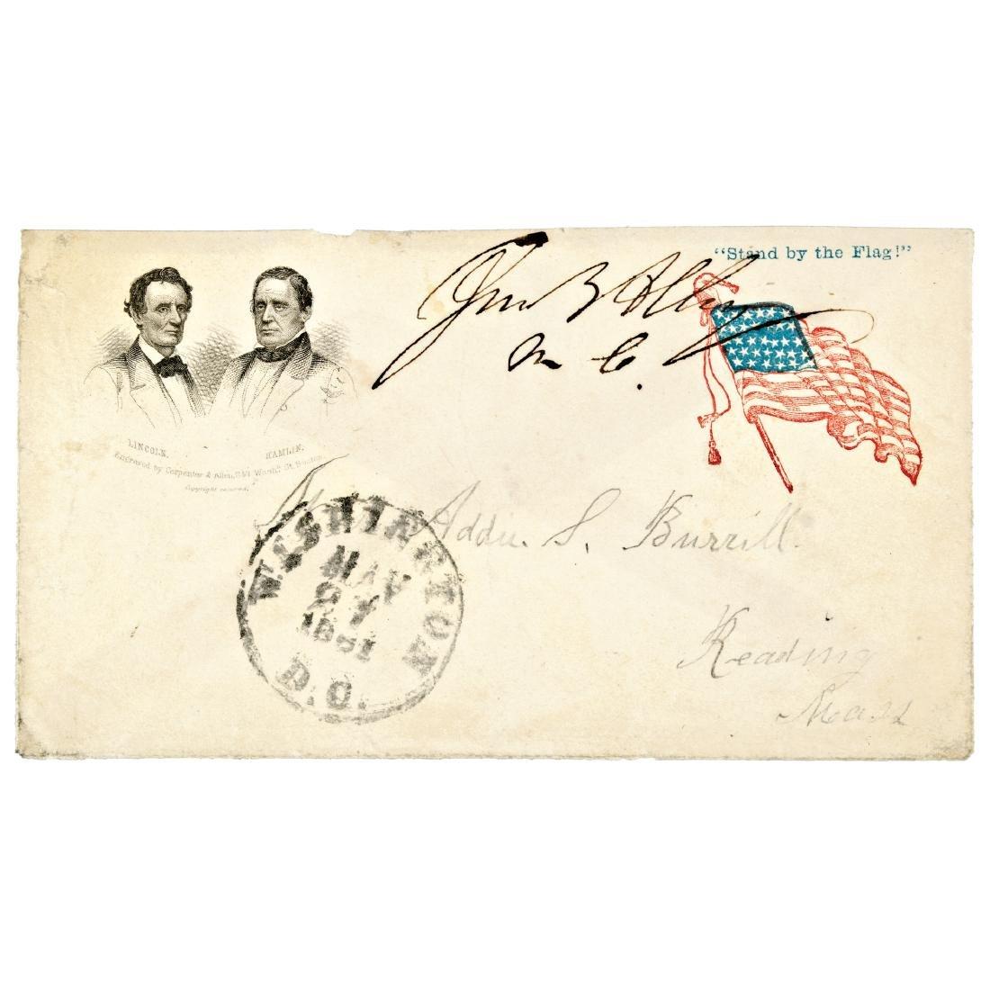 1860 Abraham Lincoln + Hannibal Hamlin Cover