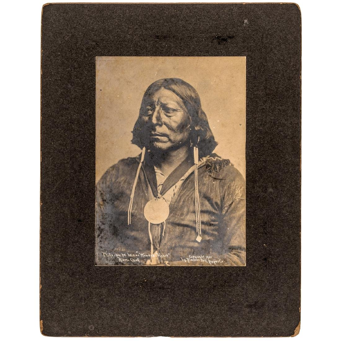 Chief Wife-Pa-Pe-He + Silver Indian Peace Medal