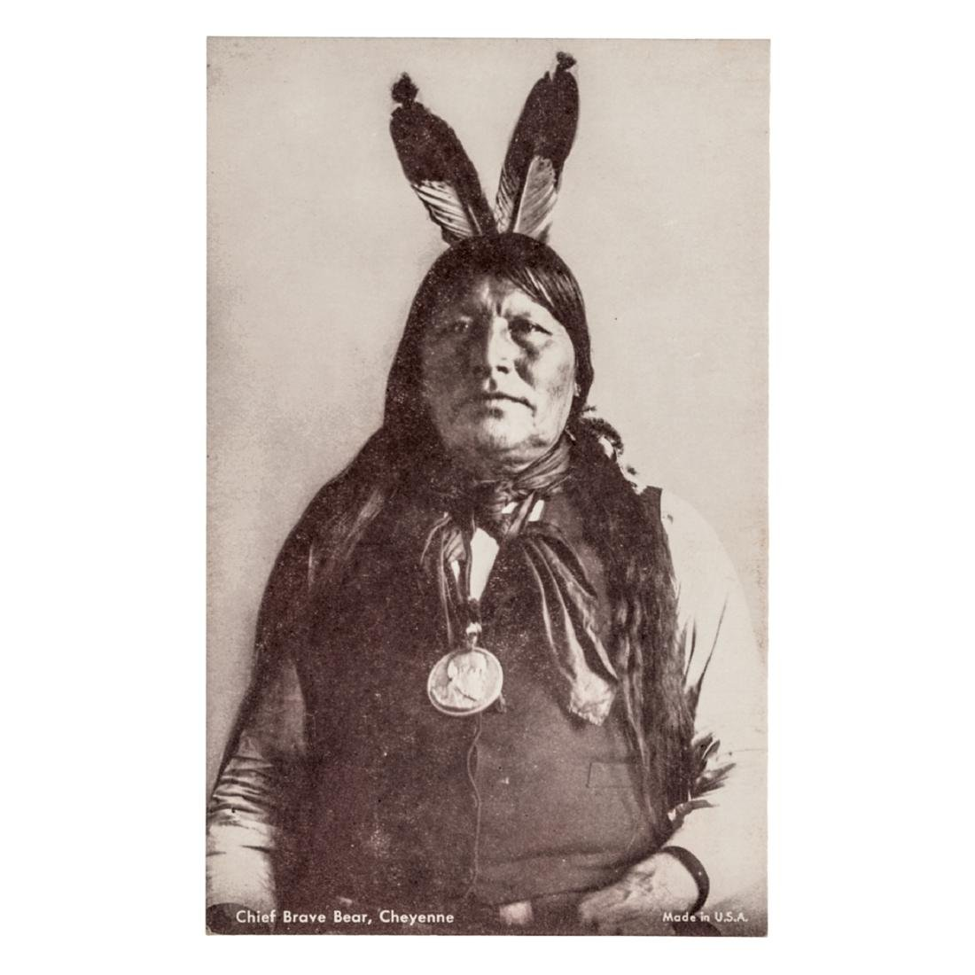 Chief Brave Bear, + Garfield Indian Peace Medal