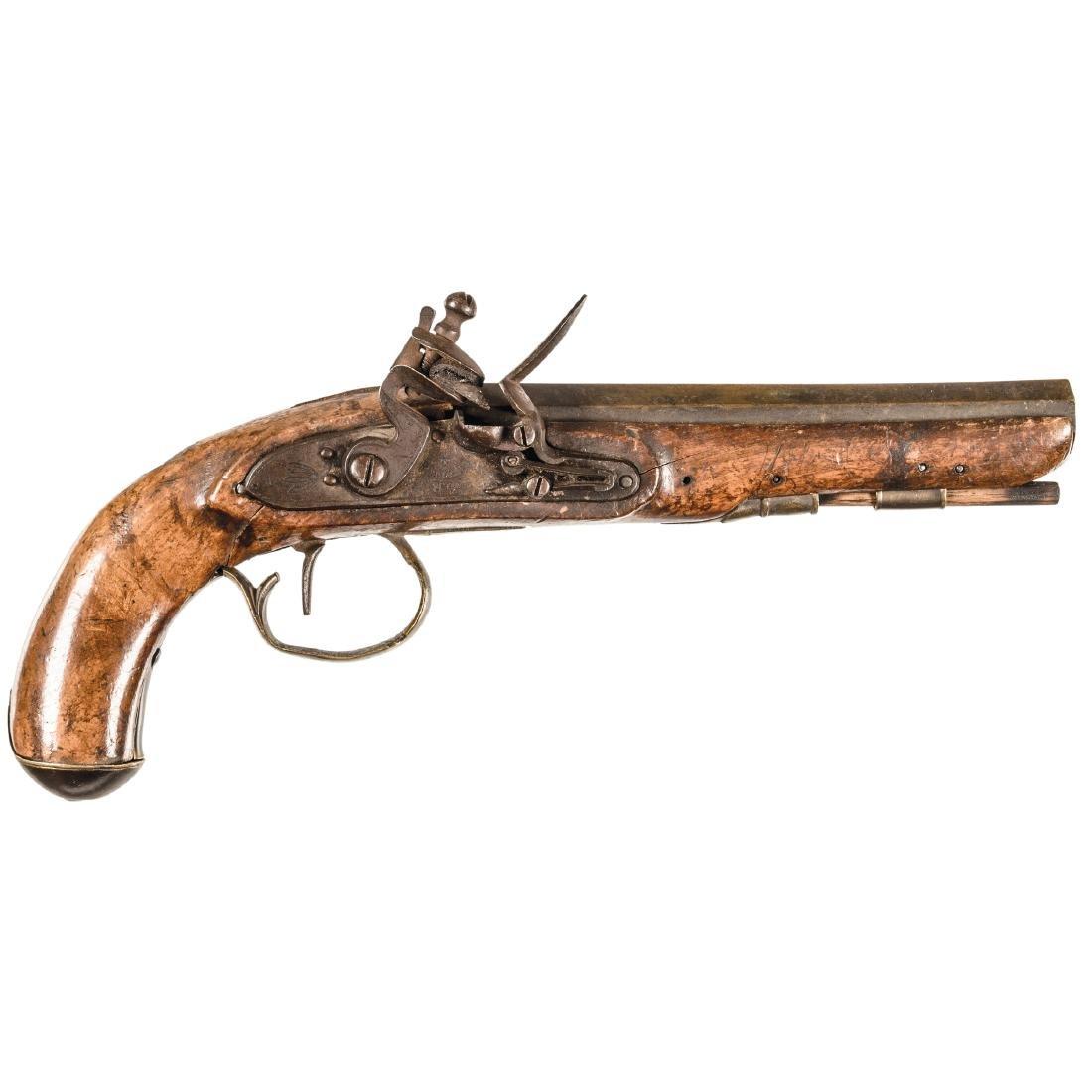 c 1815-30 Nice English/American Flintlock Pistol
