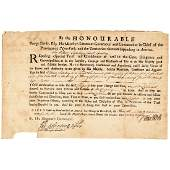 1740 NY Governor GEORGE CLARKE Signed Appointment