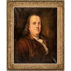 Benjamin Franklin Oil Painting After Duplessis