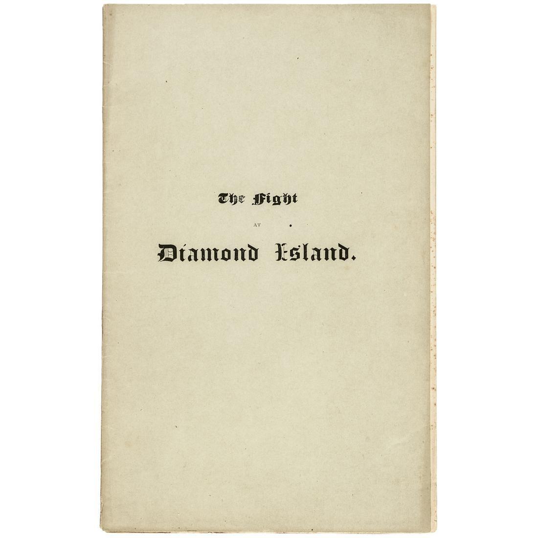 1872 THE FIGHT AT DIAMOND ISLAND Rev. War Battle
