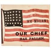 Abraham Lincoln Memorial 34-Star Civil War Flag