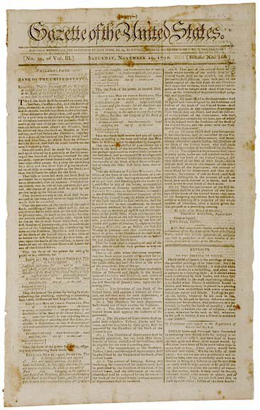 2002: 1791, Newspaper with Indian Treaty