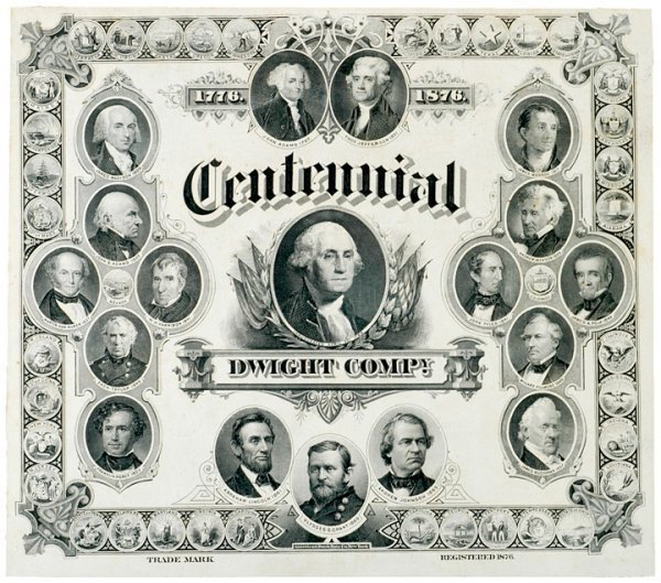 2010: 1876 U.S. Centennial Print by American Bank Note