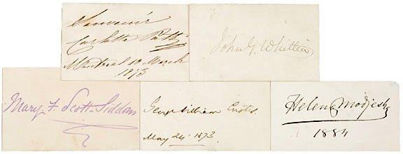 3008: AUTOGRAPH ALBUM: Five 19th Century Authors