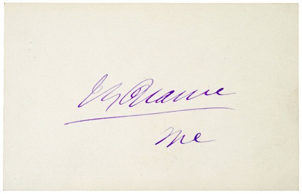 3009: JAMES G. BLAINE, Signature+Rare Original Envelope