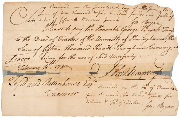 3012: Revolutionary War Document Signed, GEORGE BRYAN