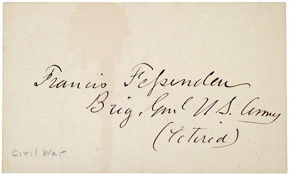 3019: Signatures Civil War Generals, Fessenden, Logan