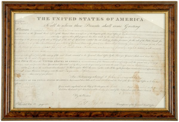 1: JOHN QUINCY ADAMS, 1826 Document Signed