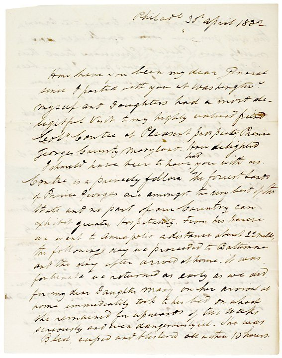 3: Autograph Letter Signed, WILLIAM BAINBRIDGE, 1832