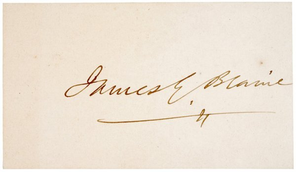 5: JAMES G. BLAINE Signature Card