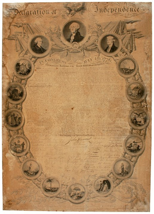21: Rare Binns Print: Declaration of Independence