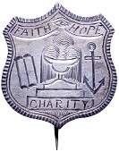 329 Civil WarEra Patriotic Pin With A Torah Srcoll
