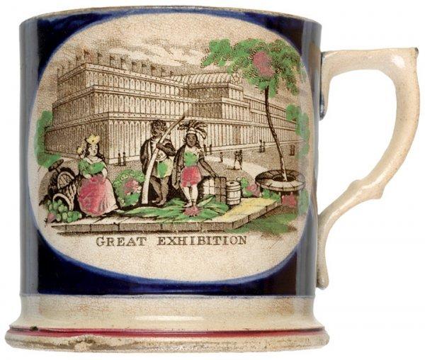 484: 1851, Hand Colored Ceramic Mug - Crystal Palace