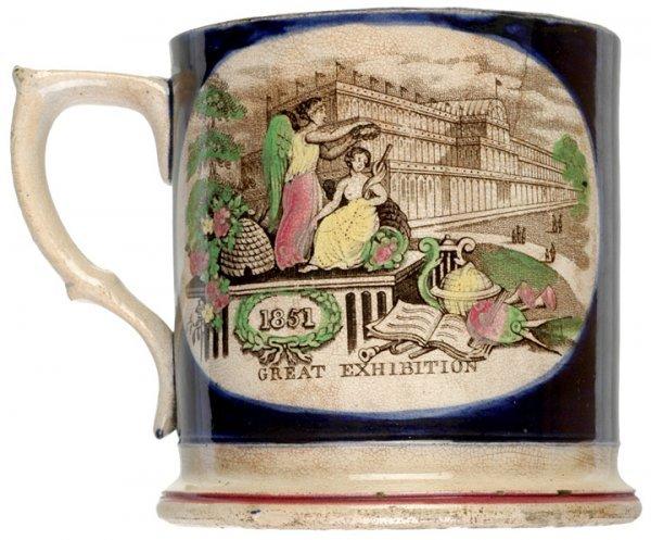 484: 1851, Hand Colored Ceramic Mug - Crystal Palace - 2