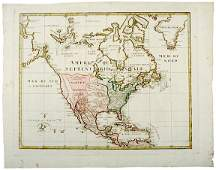 689: 1765 Map of North American Colonial Possessions