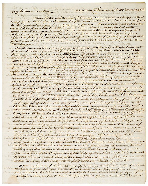 804: 1834 Manuscript Letter: Jackson & the U.S. Bank