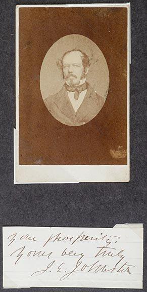 4003: Gen. JOSEPH E. JOHNSTON Signature and CDV