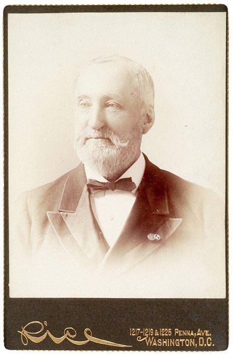 4007: WILLIAM S. ROSECRANS, Cabinet Card, Signed