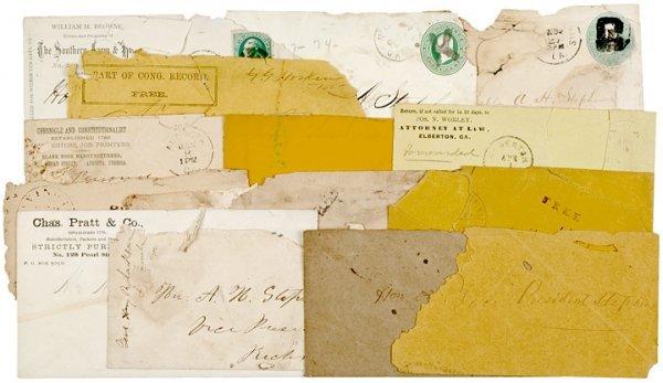 4009: Envelopes addressed to Alexander H. Stephens